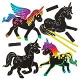 Kits-dAimants-pour-Rfrigrateur-Licornes-et-Arcs-en-ciel--Gratter-que-les-Enfants-pourront-Crer-Dcorer-et-Personnaliser-Lot-de-10
