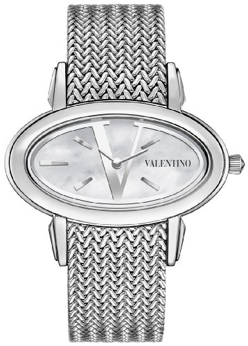 Valentino Signature Oval Stainless Steel Womens Fashion Watch V50SBQ9991-S099