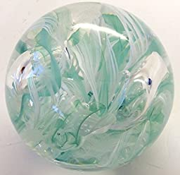 Boise Art Glass Round Twisted Wire Paperweight 3.5\