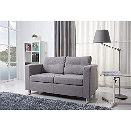 Detroit Loveseat Color: Ash