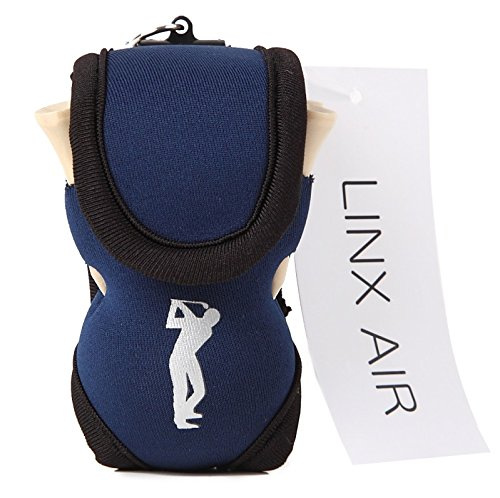 (LINX AIR) ゴルフポーチ ボールケース 軽量 ティー付き 全3色 (ネイビー)