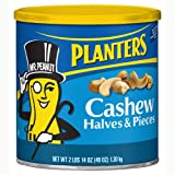 Planters Cashews Halves/Pieces - 46 oz. canister