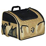 Pet Gear 3-in-1 Car Seat / Carrier / Bike Basket for Cats and Dogs up to 16-pounds, Tan