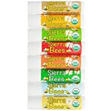 Sierra Bees Organic Lip Balm Variety 8 Pack By Cocoa Butter, Honey, Mint Burst, Pomegranate, Shea Butter & Argan Oil, Tamanu & Tea Tree, Unflavoured And Vanilla