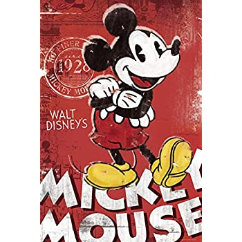 MICKEY MOUSE - Red Poster 24 x 36in