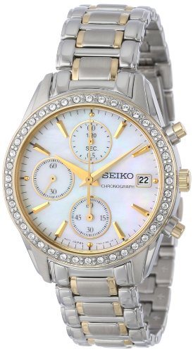 Seiko Women's SNDY20 Two Tone Stainless Steel Analog with Mother-Of-Pearl Dial Watch