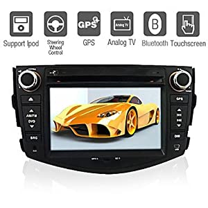 7-inch 2 Din TFT Screen In-Dash Car DVD Player For Toyota RAV4 (2006-2012) With Bluetooth,Navigation-Read GPS,iPod-Input,RDS,TV