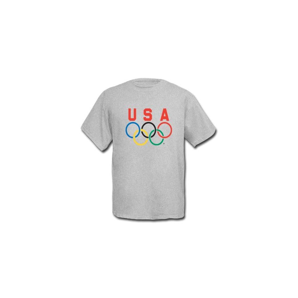 best sneakers f5678 e893c Team USA 5 Rings Logo Short Sleeve Tee Shirt