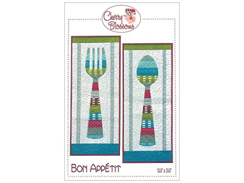 Cherry Blossoms Quilting Studio \'Bon Appetit\' Fork and Spoon ...