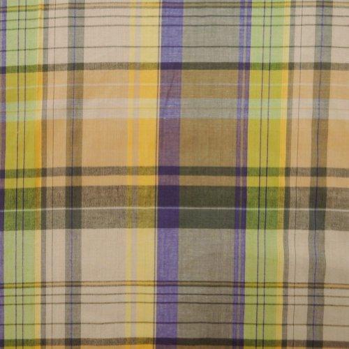 beige Basis Baumwollgewebe Scheck Stil Kleid nähen Handwerk Vorhang Kissen Kissen Quilt indien 1 yard