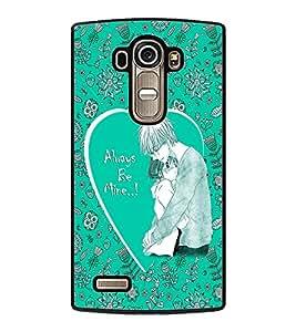 PrintDhaba Lovely Couple D-1023 Back Case Cover for LG G4 (Multi-Coloured)