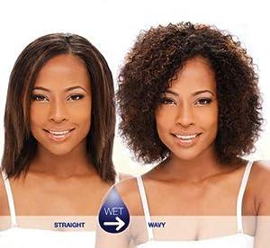 "INDIAN WATER 8"" - MilkyWay 100% Human Hair Wet & Wavy Indian Hair Weave Extensions #1B/27"