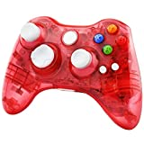 Kycola GC21 Wireless LED Gamepad Controller for Xbox 360 and PC(Red)