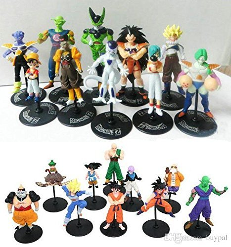 Dragon Ball Z GT Action Figures Crazy Party 10CM Cell/Freeza/Goku PVC Dragonball Figures Best Gift 20pcs/set