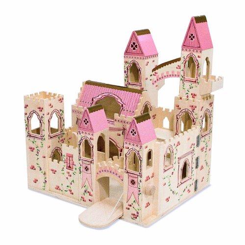 Buy Low Price Melissa & Doug Melissa & Doug Deluxe Wooden Folding Princess Castle Figure (B000NKH0E6)