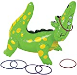 Fun Express Inflatable Alligator Ring Toss Game, 22
