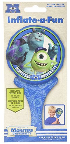 "Mayflower Distributing Monsters University Inflate-A-Fun Balloon, 12"", Multicolor"