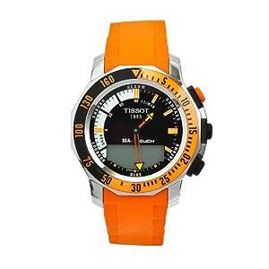 Amazon.com: Tissot Men's T0264201728103 Sea-Touch Orange