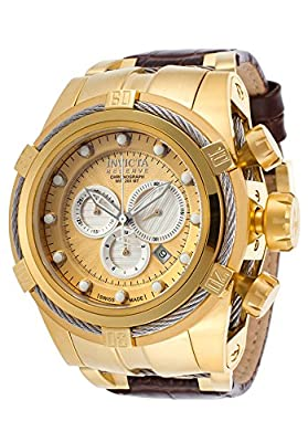 Invicta Men's 14613 Bolt Analog Display Swiss Quartz Brown Watch