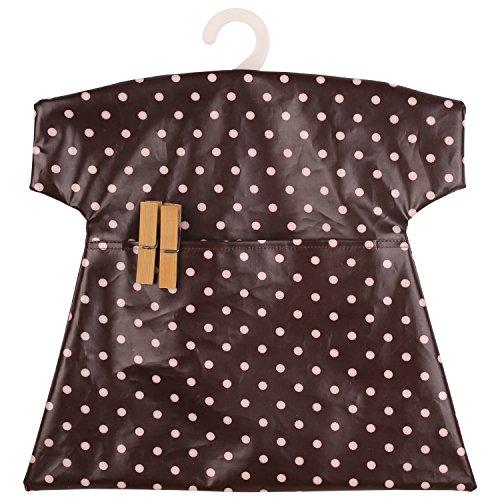 neoviva-pois-sacchetti-per-ganci-impermeabile-stile-baby-tee-polka-dots-black-coffee-30lx30w-cm