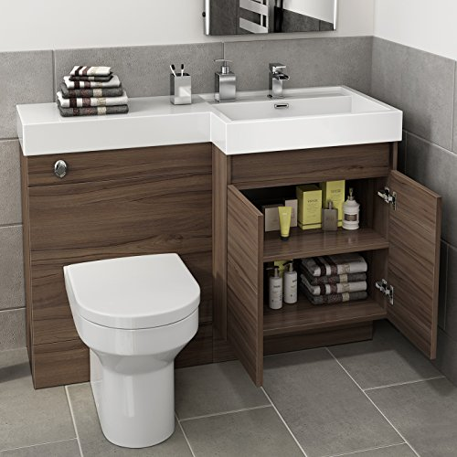 1200 mm modern walnut bathroom vanity unit basin sink toilet furniture cabinet set search - Kona modern bathroom vanity set ...
