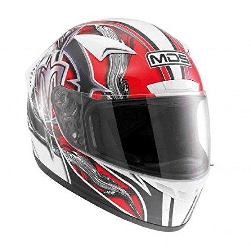 AGV Casco moto M13 MDS E2218, Multicolore(Pennello Bianco/Rosso), XS