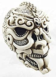 Aztec Civilization Snake Ape Warrior Tattoo Skull Figurine Halloween Skeleton by Gifts & Decor