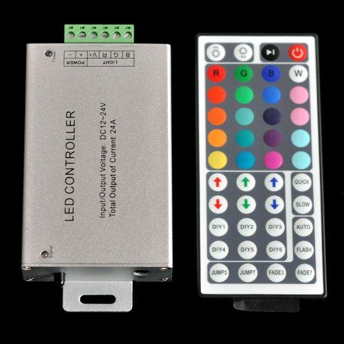12V-24V Dc 24A 240W 44Key Ir Remote Controller For Rgb Led Strip 5050 3528 Smd