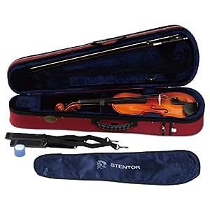 STENTOR バイオリン アウトフィット 1/16サイズ 適応身長105cm以下 ハードケース、弓、松脂付 SV-180 1/16