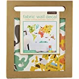 Petit Collage Fabric Wall Decal, World Map