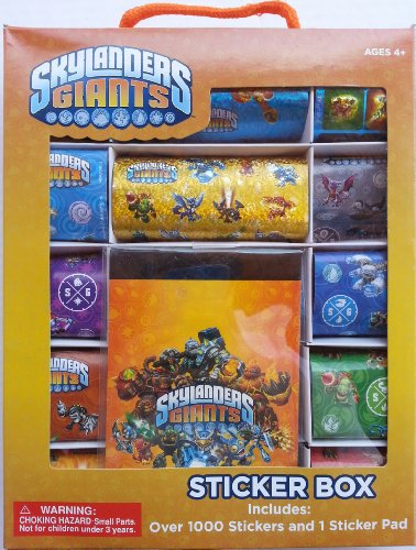 Skylanders Giants Sticker Box Set with Over 1,000 Stickers and 1 Sticker Pad by FAB