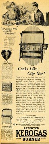 1928 Ad Kerogas Burner Stove Oven Lindemann Hoverson - Original Print Ad