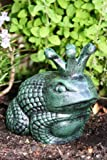 Cast Iron Frog Prince Garden Statue
