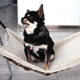 Kiss&Cuddle® Pet Sleeper Small Dog Hammock Hanging Bed for Puppy Kitty Leopard Design Brown