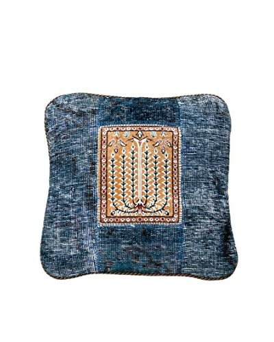 Navaei & Co Cuscino Realizzato A Mano Vintage Patch Multicolore 48x48 cm