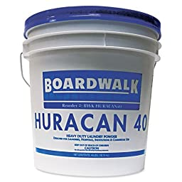 Boardwalk Low Suds Laundry Detergent, Powder, Fresh Lemon Scent, 40 lb. Pail - 1 pail of laundry detergent.