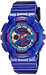 Casio Baby-G Analog-Digital Purple Dial Womens Watch - BA-112-2ADR (BX030)