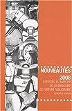 echange, troc Geneviève Fontan - Nouveautés 2008 : L'officiel du marché de la miniature de parfum publicitaire
