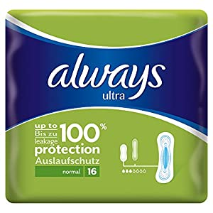 Always Ultra Normal Sanitary Towels - Single Pack (16 Pads)
