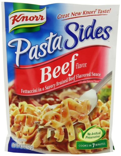 Knorr/Lipton Noodles & Sauce, Beef, 4.3-Ounce Packages (Pack of 12)