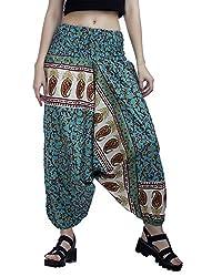 Indi Bargain Women's Cotton Printed Alibaba Cotton Afghani Trouser