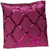 Shahenaz Home Shop Kyrah Sequence Geometry Poly Dupion Cushion Cover - Pink