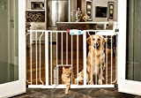 Carlson 44-Inch Extra Wide Walk Through Gate with Pet Door, 29 to 44-Inch