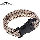 Alcoa Prime Outdoor Camping Hiking Survival Bracelet Kits Cord Wristbands Emergency Rope Gear Whistle Pulseira...