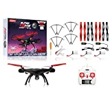 SYMA-HERO-RC-Super-X5HW-WiFi-FPV-3MP-HD-Camera-24G-4-Channel-6-axis-Gyro-RC-Drone-Quadcopter-RTF-w-Live-Video-Altitude-Hold-360-degree-3D-Rolling-3-Batteries-Extra-Set-Blades-Extra-Charger