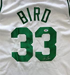 Larry Bird Autographed Hand Signed Boston Celtics White Jersey PSA DNA #T64149