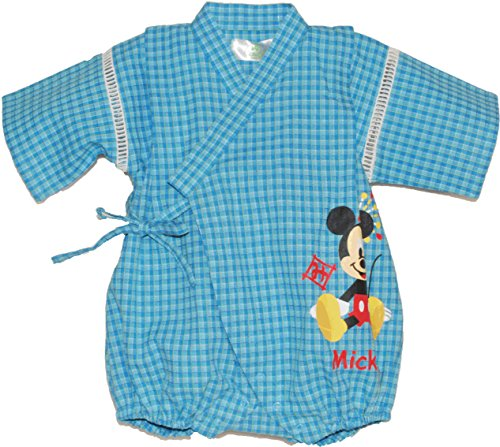 ディズニー【Disney】ミッキー&ミニー甚平ロンパース (80, ミッキー)