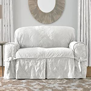Amazon Sure Fit Matelasse Damask 1 Pc Sofa White