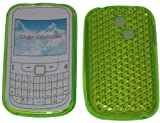 For Samsung Ch@t 335 T335 S3350 Diamond Patterned Protective Silicone Gel Case Cover Pouch TPU. (Lime Green)