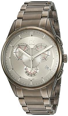 Calvin Klein Men's K2A27926 Basic Analog Display Swiss Quartz Grey Watch
